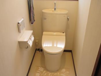 和式から、洋式トイレになりました。段差もなくなり、掃除も楽になりました。