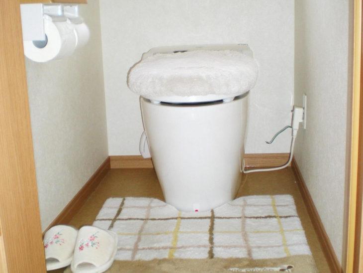 タンクレスになったので、空間ができ、トイレ掃除も手軽にできるようになりました。