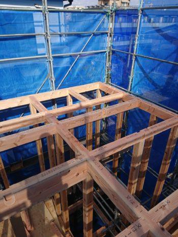 新築工事建て方工事