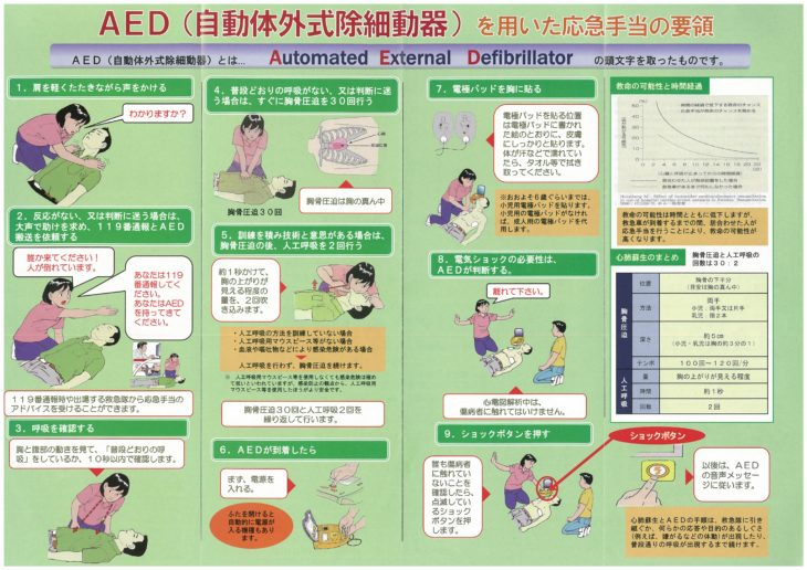 AED応急手当訓練!