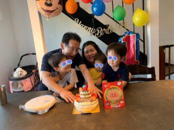 孫の一歳の誕生日